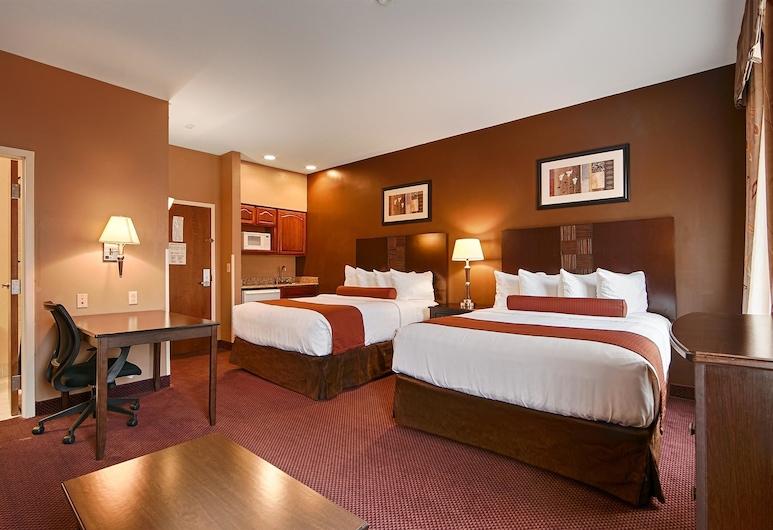 Best Western Plus Hannaford Inn & Suites, Cincinnati, Standard Room, 2 Queen Beds, Non Smoking, Kitchenette, Guest Room