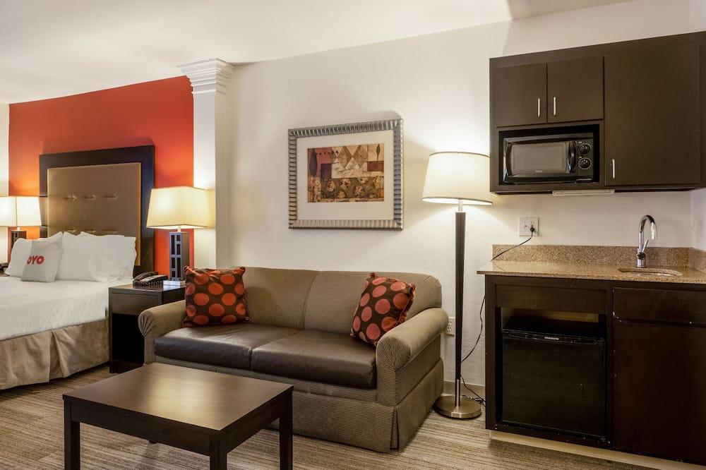 Premium Room, 1 Queen Bed, Accessible - Living Area