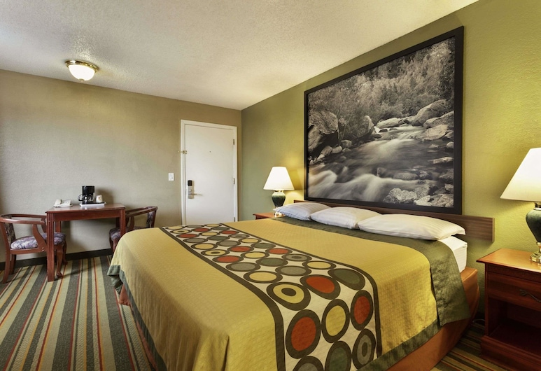 Super 8 by Wyndham Ridgecrest, Ridgecrest, Quarto Empresarial, 1 cama king-size, Acessível, Quarto