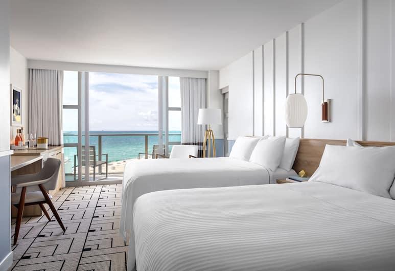 Cadillac Hotel & Beach Club, Autograph Collection, Miami Beach, Room, 2 Queen Beds, Oceanfront, Beach/Ocean View