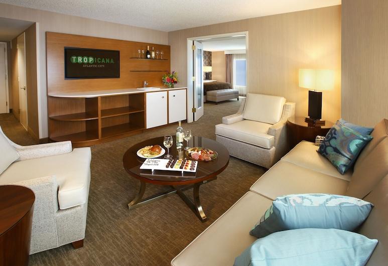 熱帶大西洋城酒店, 大西洋城, HAVANA ONE BEDROOM SUITE 1 KING NON-SMOKING, 客廳