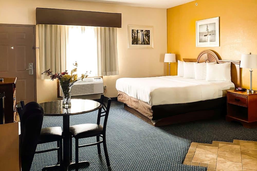 Kambarys, 1 labai didelė dvigulė lova, Rūkantiesiems, šaldytuvas ir mikrobanginė krosnelė - Svečių kambarys