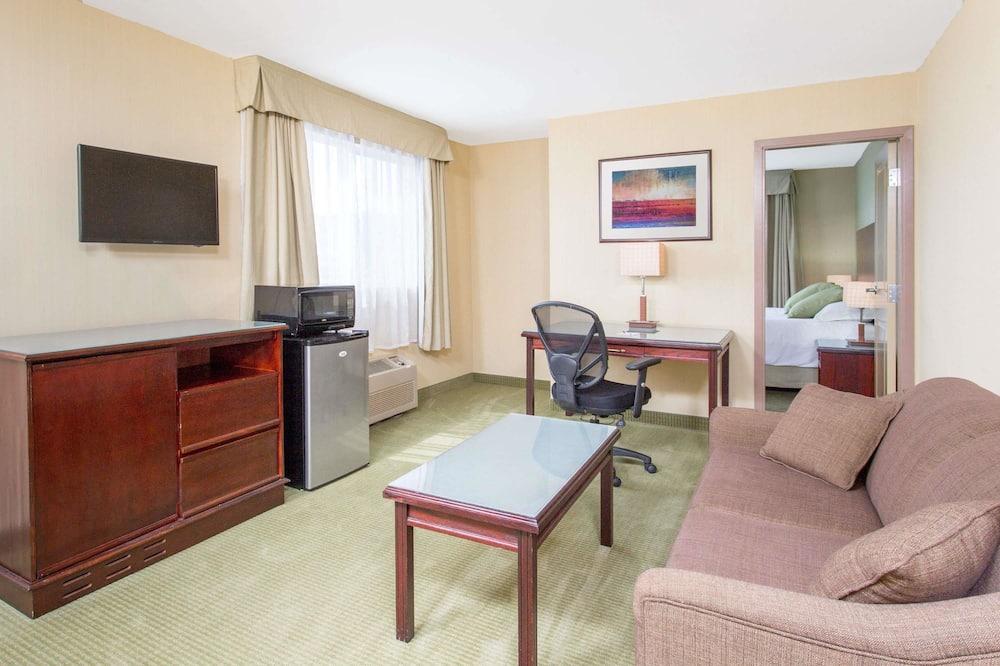 Люкс, 1 двуспальная кровать «Кинг-сайз» с диваном-кроватью, для некурящих - Номер