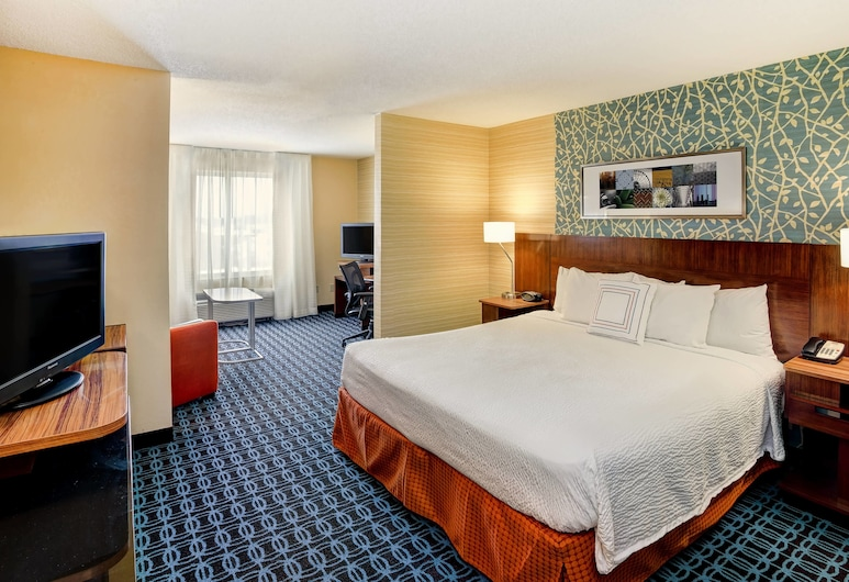 Fairfield Inn & Suites by Marriott Chicago Southeast/Hammond, Hammond, Suite ejecutiva, 1 cama King size con sofá cama, Habitación