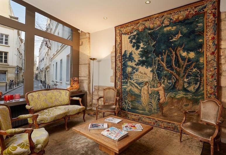 Hotel De Notre Dame Maître Albert, Paris, Lobby Sitting Area