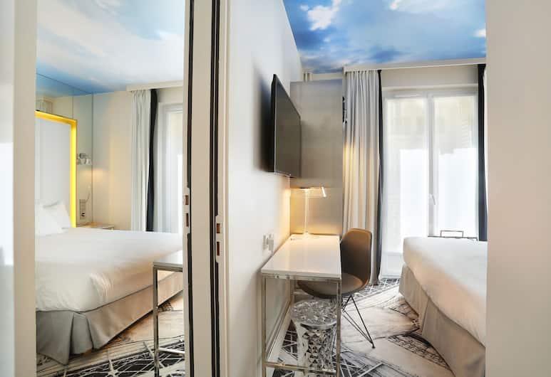 Nouvel Hotel Eiffel, Paris, Familierom, rom vegg-i-vegg, Gjesterom
