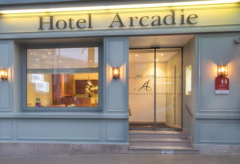 蒙帕納斯阿卡迪亞酒店, 巴黎, 酒店入口