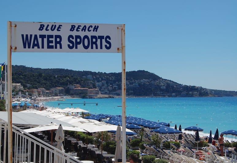 Hotel de la Fontaine, Nizza, Strand