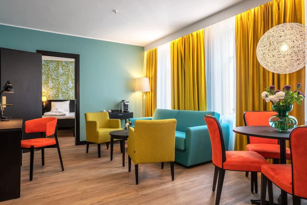 Suite estándar, 1 cama Queen size, para no fumadores - Sala de estar