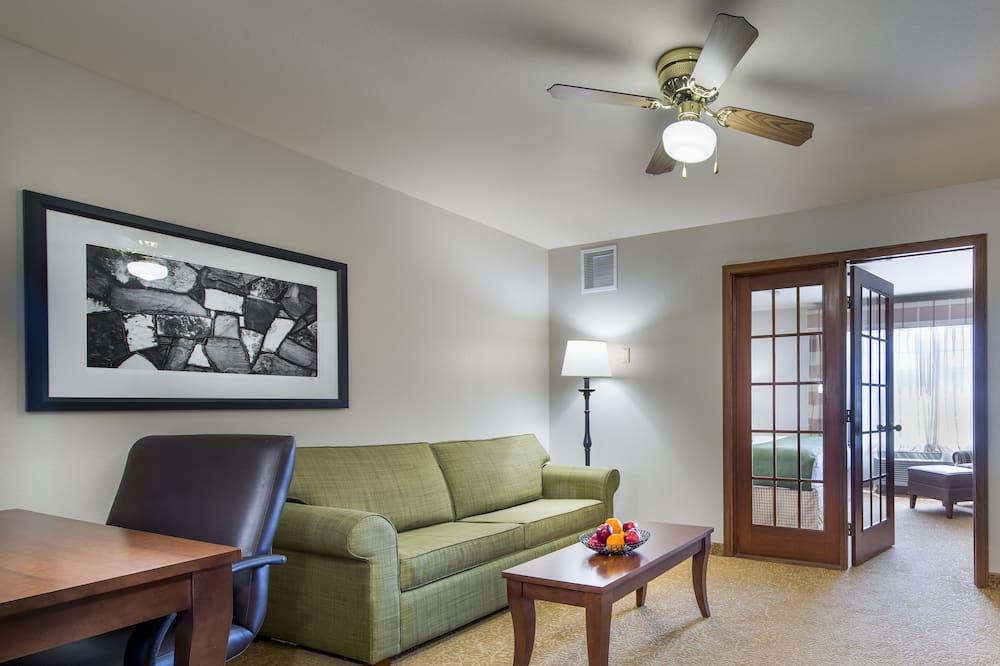 套房, 1 張特大雙人床, 非吸煙房 - 客廳