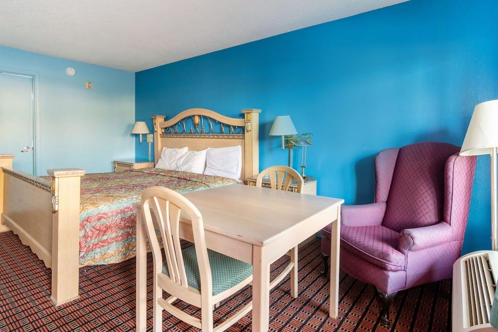Chambre, 1 très grand lit, accessible aux personnes à mobilité réduite - Restauration dans la chambre