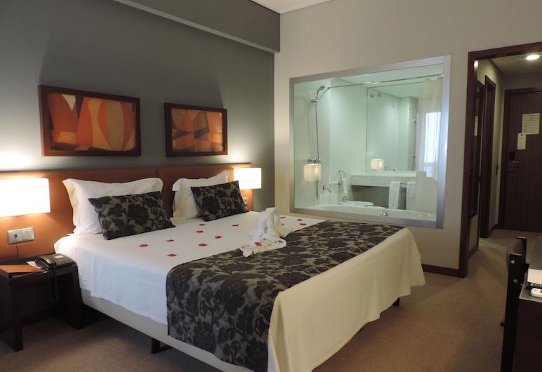 Praiagolfe Hotel, Espinho, Romantische kamer, gedeeltelijk uitzicht op zee, Kamer