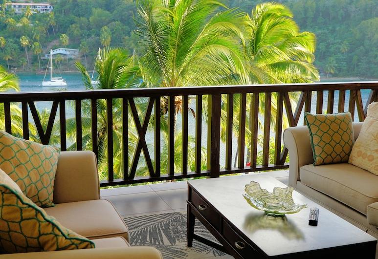 Marigot Beach Club and Dive Resort, Marigot Bay, Sunset Villa Suite, 2 Bedroom, Balkon
