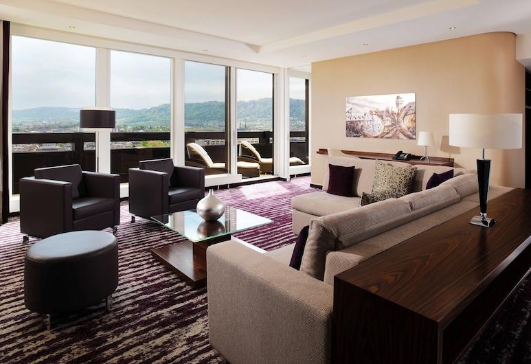 Zurich Marriott Hotel, Zürih, Club Süit, 1 Yatak Odası, Sigara İçilmez (Larger Suite), Oda