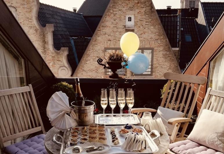 Relais & Chateaux Hotel Heritage, Bruges, Terasz/udvar
