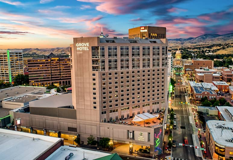 The Grove Hotel, Boise, Aerial View