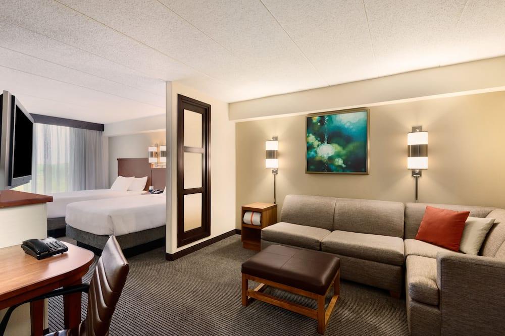 Guest Room, Huone, 2 parisänkyä - Oleskelualue