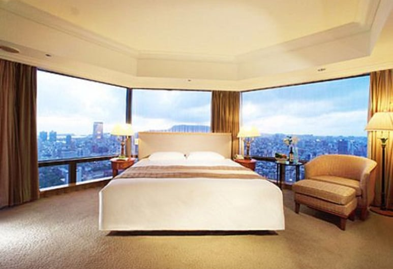 Han Hsien International Hotel, Kaohsiung, Camera panoramica, 1 letto king, Camera