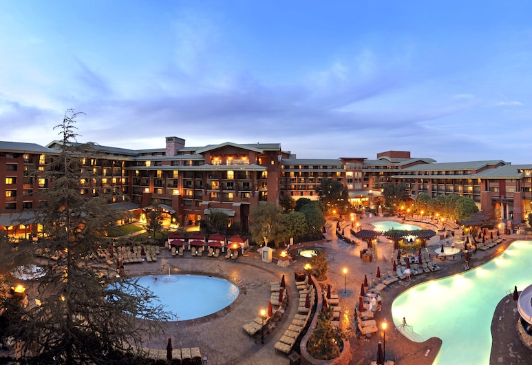 Disney's Grand Californian Hotel and Spa, Anaheim, Hotel Front – Evening/Night