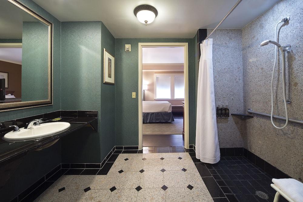 Standartinio tipo kambarys, 2 standartinės dvigulės lovos, su patogumais neįgaliesiems - Vonios kambarys