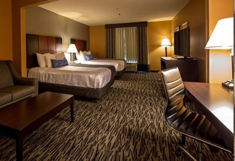 Best Western Plus Denton Inn & Suites, Denton, Standard szoba, 2 queen (nagyméretű) franciaágy, nemdohányzó, hűtőszekrény és mikrohullámú sütő, Vendégszoba