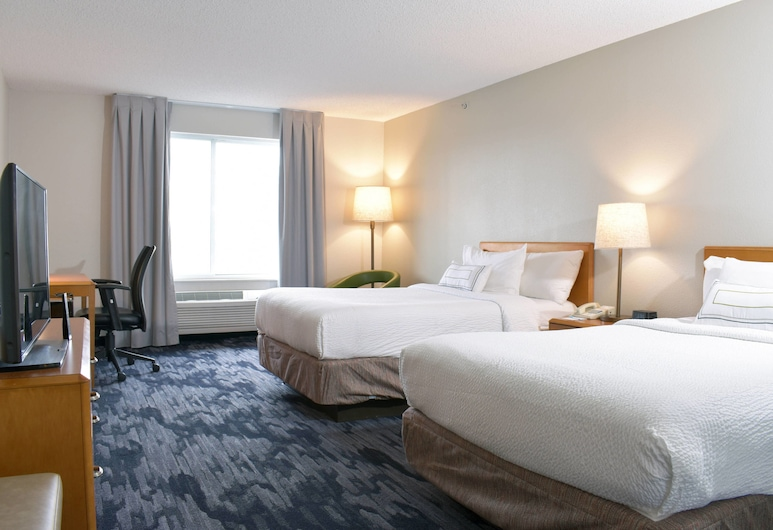 Fairfield Inn and Suites by Marriott Indianapolis East, Indianapolis, Room, 2 Double Beds, Non Smoking (Guest Room), Guest Room