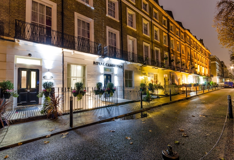 Royal Cambridge Hotel, London, Hotel Front – Evening/Night