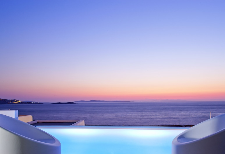 Kouros Hotel & Suites, Mykonos, Suite – deluxe, privat basseng, Gjesterom