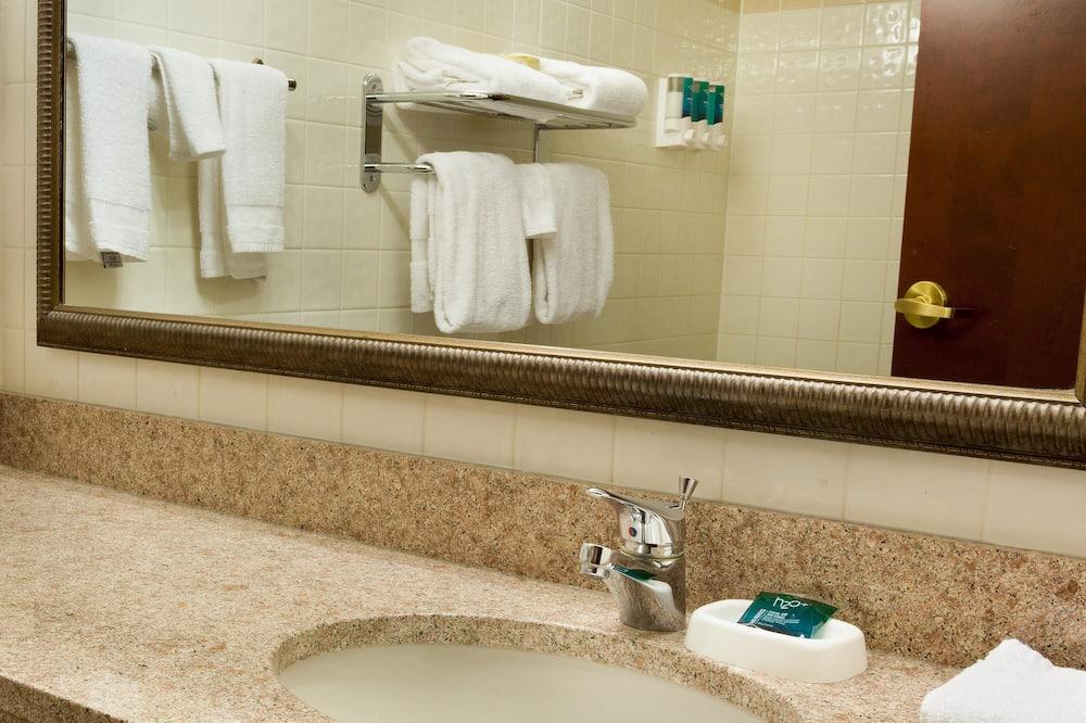 デラックス ルーム キングベッド 1 台 バリアフリー 冷蔵庫 & 電子レンジ (Tub) - バスルーム
