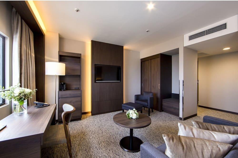 חדר פרימיום טווין, 2 חדרי שינה, ללא עישון, נוף לעיר - חדר אורחים