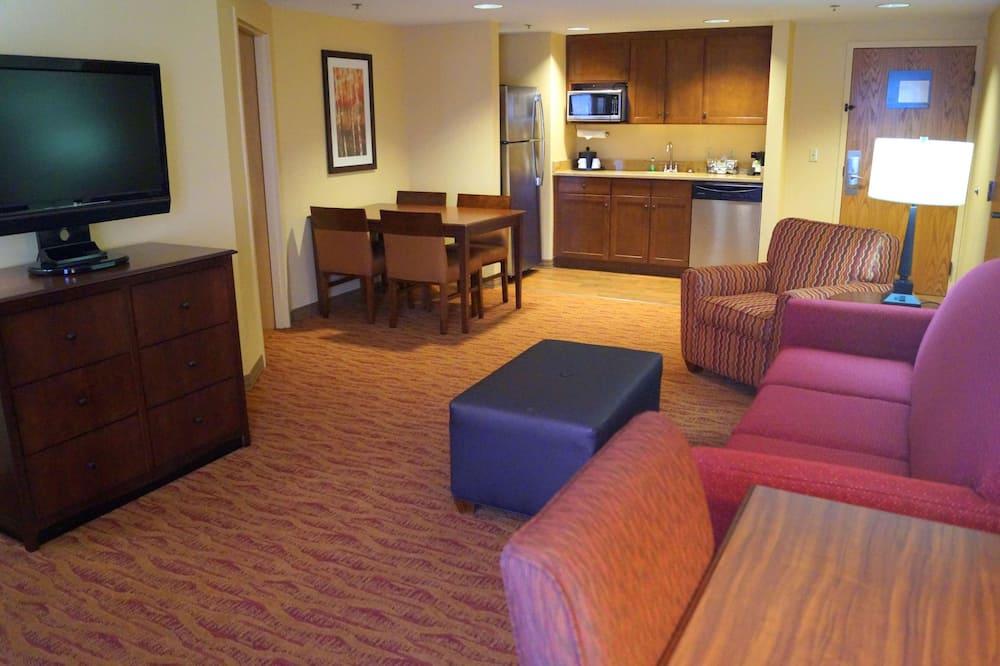 Suite, 2 camas queen-size, Não-fumadores - Área de Estar