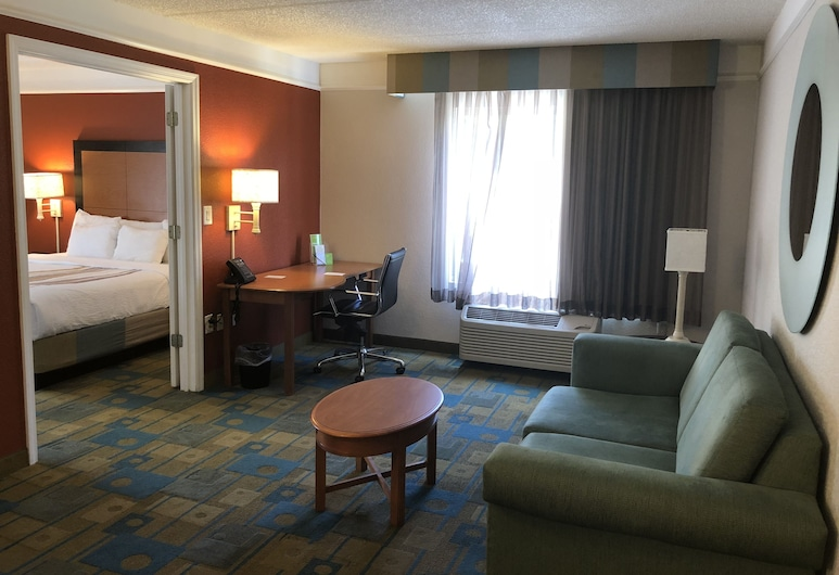 La Quinta Inn & Suites by Wyndham Jacksonville Butler Blvd, ג'קסונוויל, סוויטה, מיטת קינג, ללא עישון, סלון