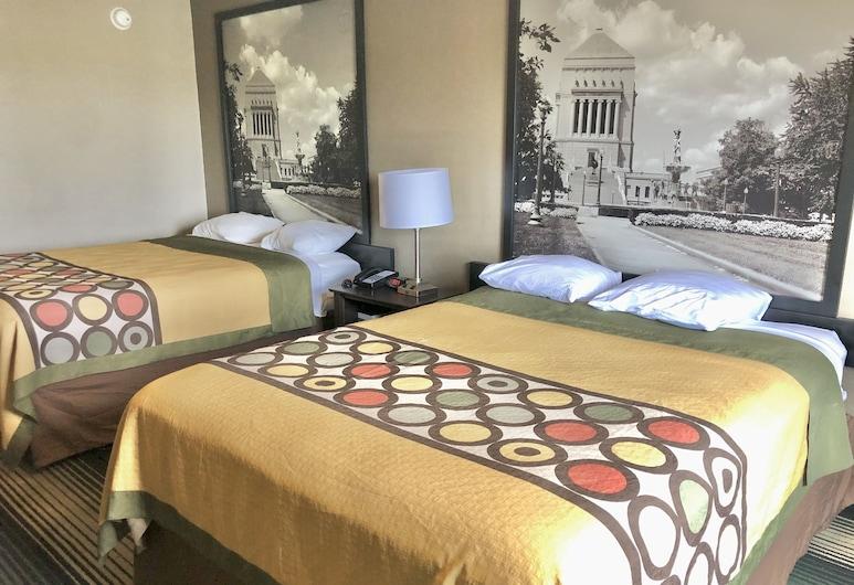 ซุปเปอร์ 8 บายวินด์แฮม อินเดียแนโพลิสเซาท์, อินเดียแนโพลิส, ห้องสแตนดาร์ด, เตียงควีนไซส์ 2 เตียง, ห้องพัก