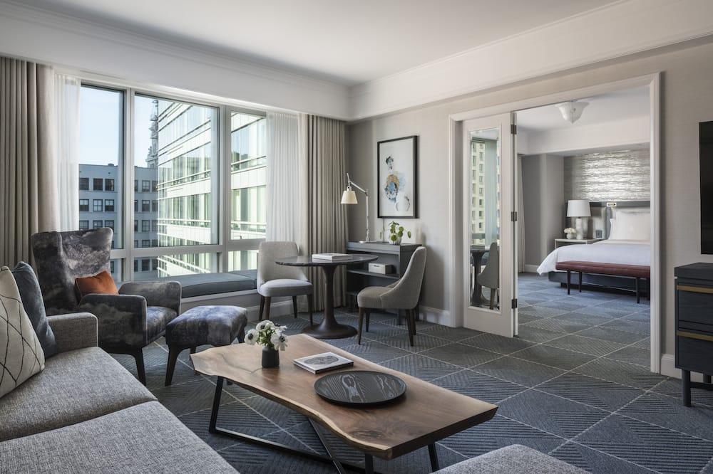 Suite, 1King-Bett und Schlafsofa, barrierefrei - Wohnzimmer