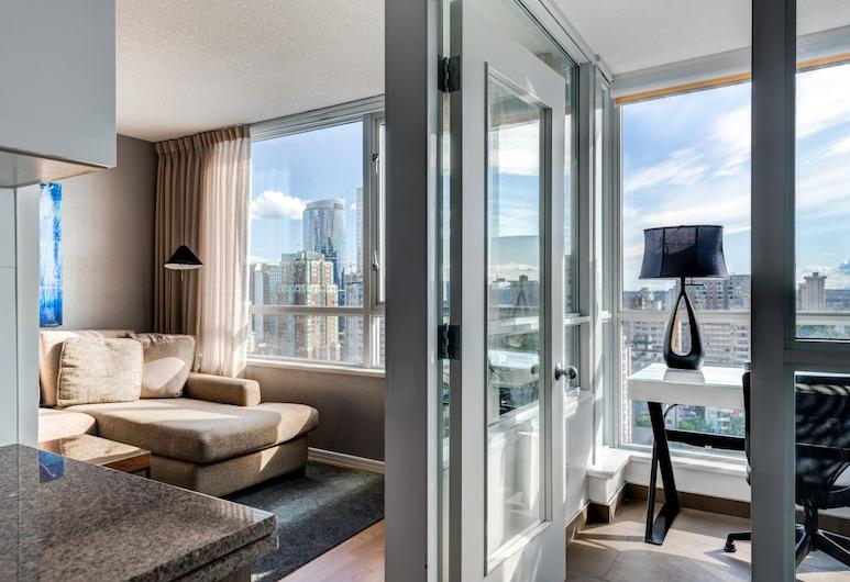 Carmana Plaza, Vancouver, Apartmá typu Executive, dvojlůžko (180 cm), Obývací prostor