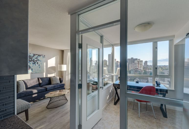 Carmana Plaza, Vancouver, Standaard suite, 1 kingsize bed, Woonkamer