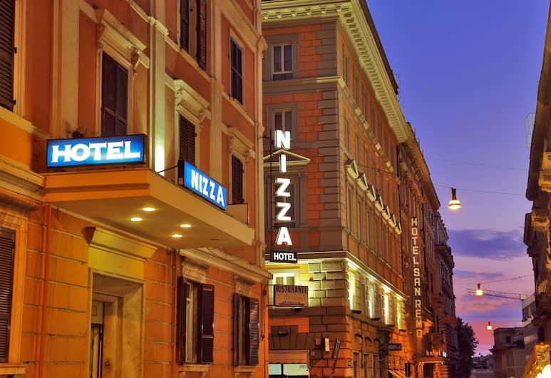 Hotel Nizza Roma , Rome, Hotel Front – Evening/Night