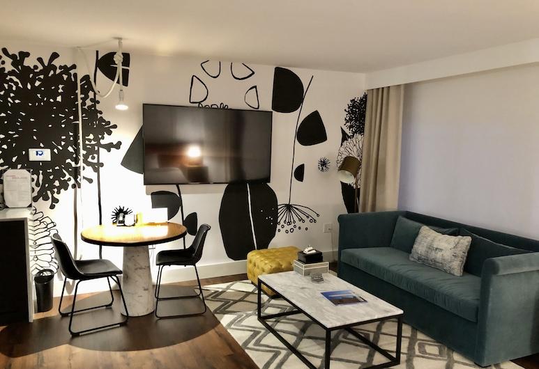 Kimpton Banneker Hotel, Waszyngton, Apartament typu Studio, Łóżko king i sofa (Art, Spa Tub), Pokój