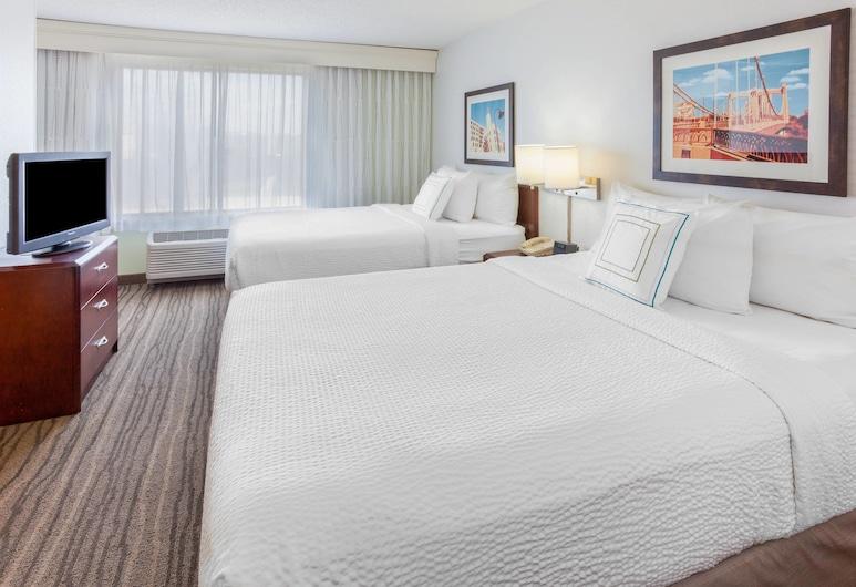 明尼阿波利斯伊甸草原斯萬豪春丘套房酒店, 伊甸普雷里, 套房, 2 張加大雙人床, 非吸煙房, 客房