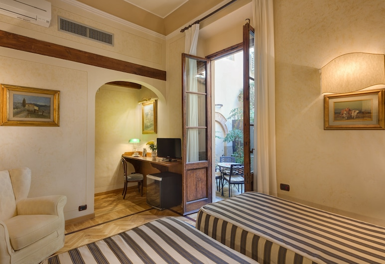 Hotel Morandi Alla Crocetta, Florencia, Izba typu Superior s dvojlôžkom alebo oddelenými lôžkami, terasa, Hosťovská izba