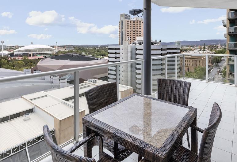 Oaks Adelaide Embassy Suites, Adelaidė, Kambarys verslo klientams, 2 miegamieji (No Housekeeping), Balkonas