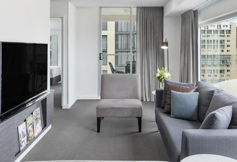 Oaks Adelaide Embassy Suites, Adelaide, Quarto Deluxe, 2 Quartos, Área de Estar