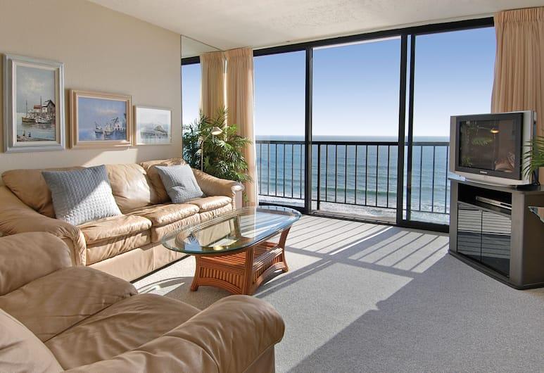 Capri by the Sea by All Seasons Resort Lodging, San Diego, Standard lakás, 1 hálószobával, kilátással az óceánra (1 Queen, 1 Sofa Bed), Nappali rész
