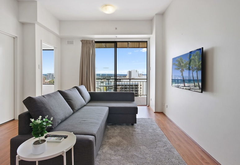 All Suites Perth, Perth, Grand Apartment, 2 Bedrooms, Non Smoking, Balcony, Living Area