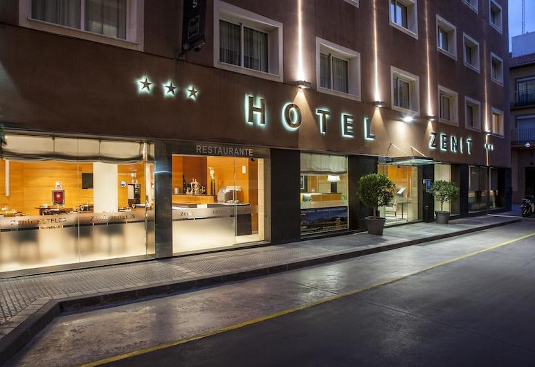 Hotel Zenit Malaga, Málaga, Hotellets facade - aften/nat