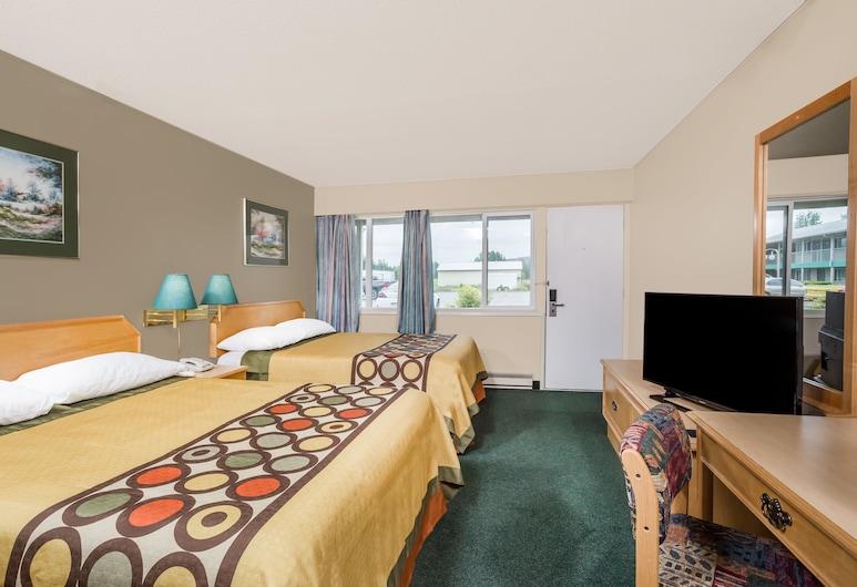 卑詩克內爾溫德姆速 8 飯店, 奎斯內爾, 標準客房, 2 張加大雙人床, 客房