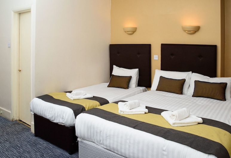 玫瑰園酒店, 倫敦, 三人房, 客房