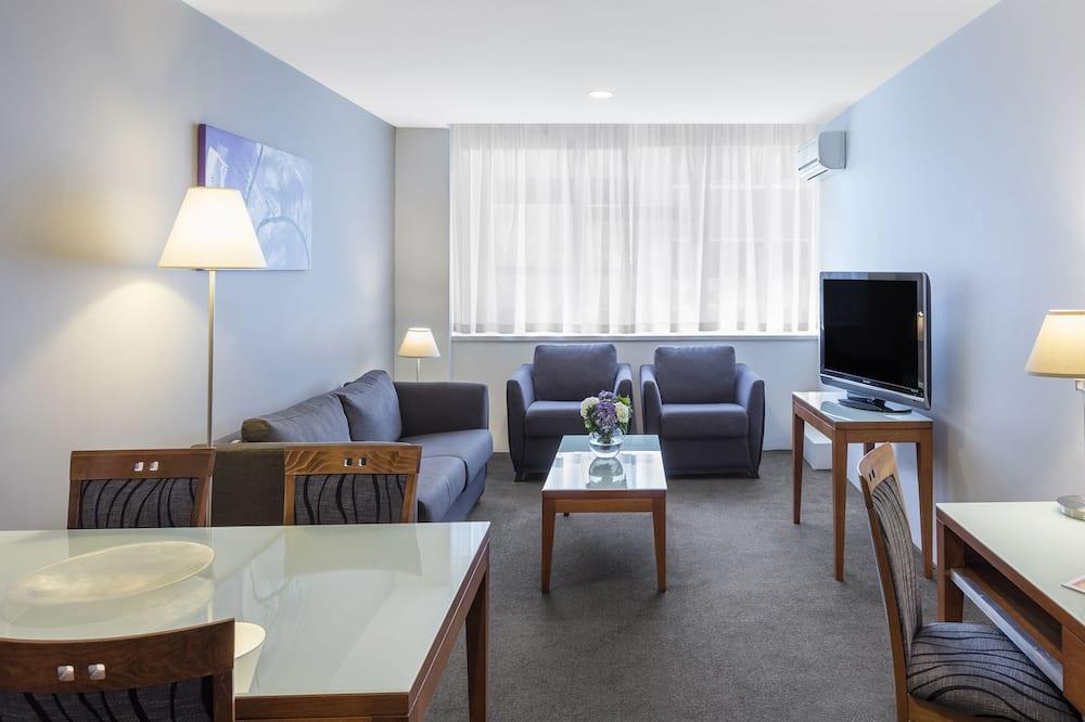 Апартаменты, 1 спальня, для некурящих, кухня - Зона гостиной
