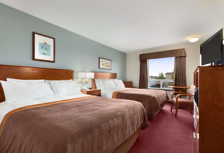 Super 8 by Wyndham Yellowknife, Yellowknife, Phòng Tiêu chuẩn, 2 giường cỡ queen, Phòng