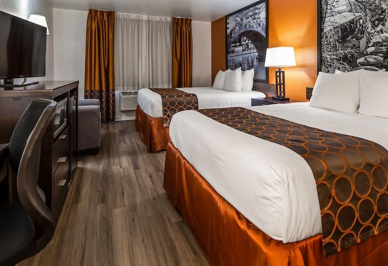SureStay Plus Hotel by Best Western San Antonio Airport, San Antonijas, Standartinio tipo kambarys, 2 didelės dvigulės lovos, Nerūkantiesiems, Svečių kambarys